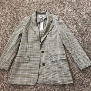 BB DAKOTA Plaid Blazer Size XS NWT